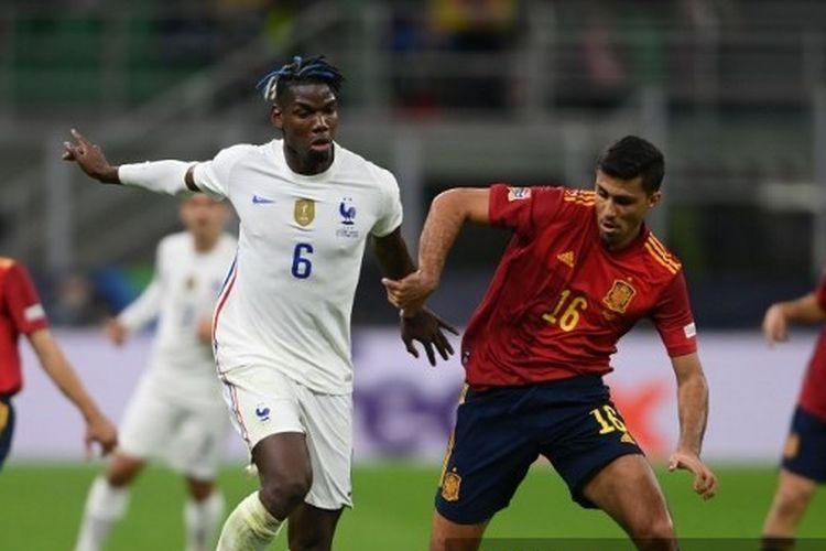 Laga final UEFA Nations League 2020-2021 antara Spanyol dan Perancis di Stadion San Siro, Milan, Italia, Senin (11/10/2021) dini hari WIB.