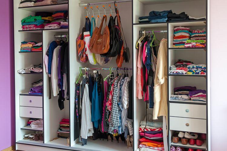 Ilustrasi lemari pakaian.