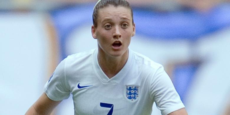 Jade Moore, salah satu pemain timnas sepak bola perempuan Inggris.