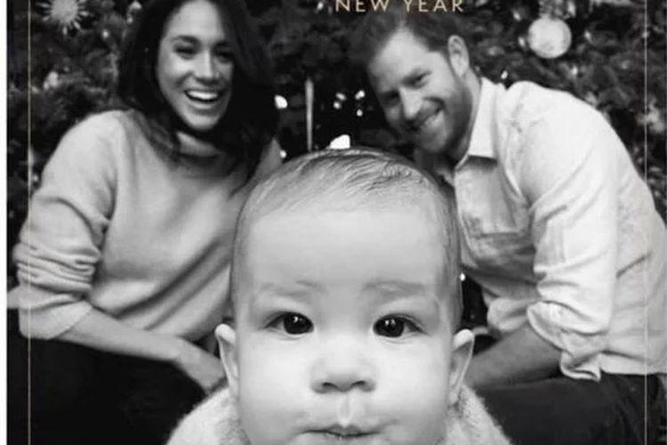 Kartu ucapan natal keluarga Pangeran Harry dan Meghan Markle.