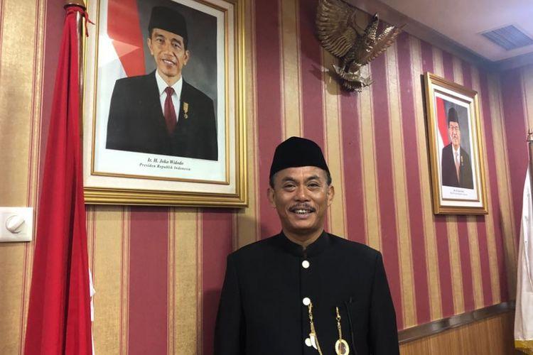 Ketua DPRD DKI Jakarta Prasetio Edi Marsudi di Gedung DPRD DKI, Jalan Kebon Sirih, Jumat (22/6/2018).