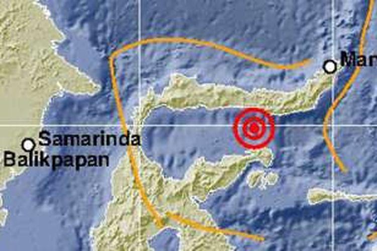 Gempa ringan 3,7 Skala Richter terjadi di Teluk Tomini sebelah barat daya Kabupaten Bone Bolango, Gorontalo pada kedalaman 10 km.