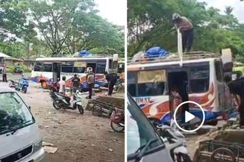 Polisi Siram Minuman Beralkohol ke Sopir Bus Saat Razia Miras, Videonya Viral, Ini Kata Kapolsek