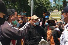 Demo Tolak E-Parking di Medan, Juru Parkir Adu Mulut dengan Petugas Dishub
