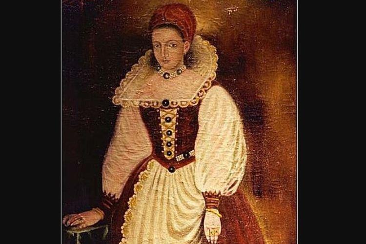 Salinan lukisan potret Elizabeth Bathory, bangsawan Hungaria yang juga dikenal sebagai pembunuh lebih dari 300 orang.