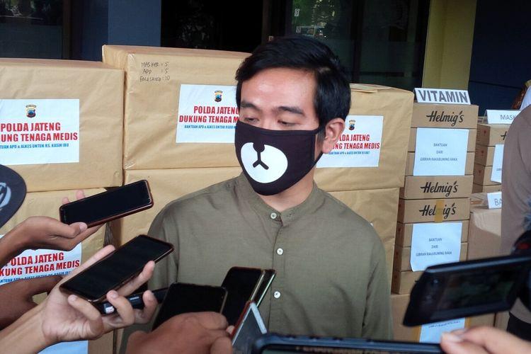 Bakal calon Wali Kota Solo, Gibran Rakabuming Raka di Solo, Jawa Tengah, Selasa (28/4/2020).