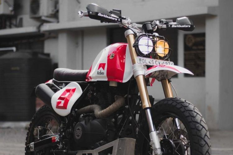 Royal Enfield Himalayan bergaya scrambler garapan Ricochet Motorcycles