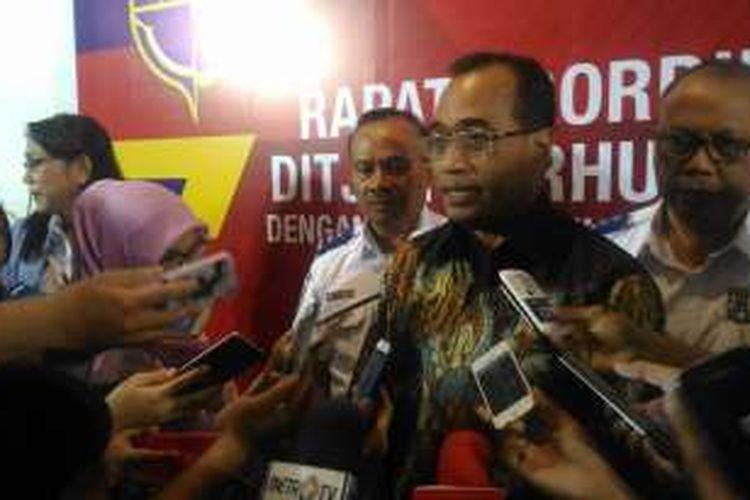 Menteri Perhubungan (Menhub) Budi Karya Sumadi, di Hotel Grand Sahid Jaya Jakarta, Kamis (6/10/2016)
