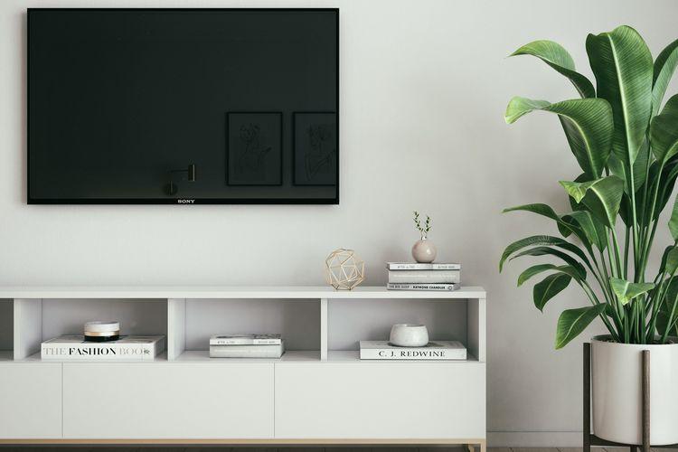 Ilustrasi TV di rumah.