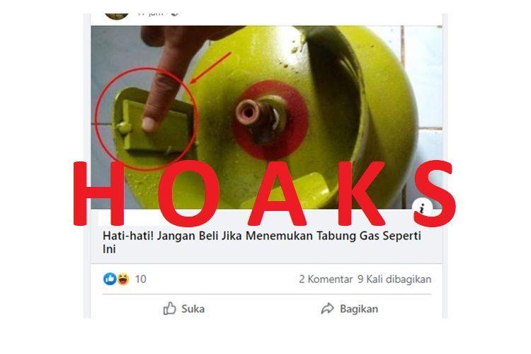 Beredar informasi di media sosial bahwa lempengan besi yang ada pada tabung gas untuk mengurangi berat gas di dalamnya. Informasi ini tidak benar.