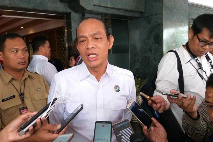 Deputi Pemberantasan Badan Narkotika Nasional (BNN), Irjen Arman Depari, memberikan keterangan di Kantor Kemendagri, Jakarta Pusat, Senin (20/1/2020).