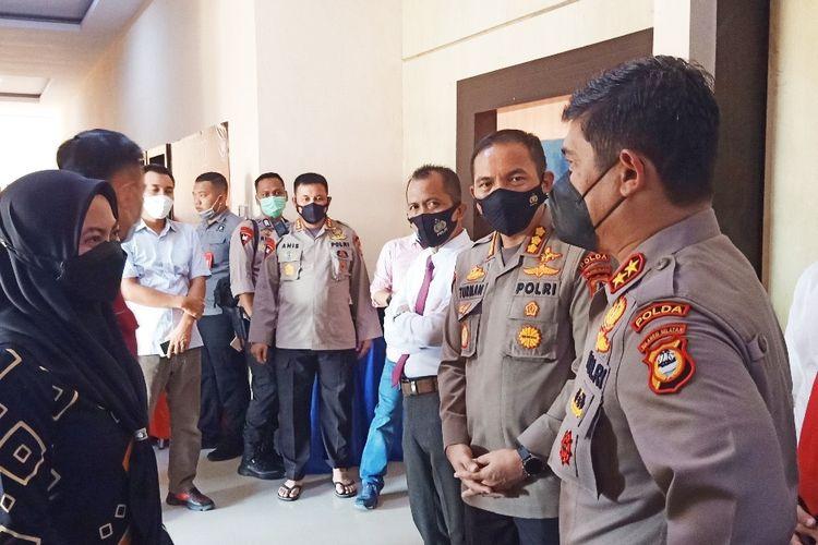 Kepala Kepolisian Daerah (Kapolda) Sulawesi Selatan (Sulsel) Merdisyam saat melakukan kunjungan di Kepolisian Resor (Polres) Luwu Utara pada Rabu (9/6/2021).