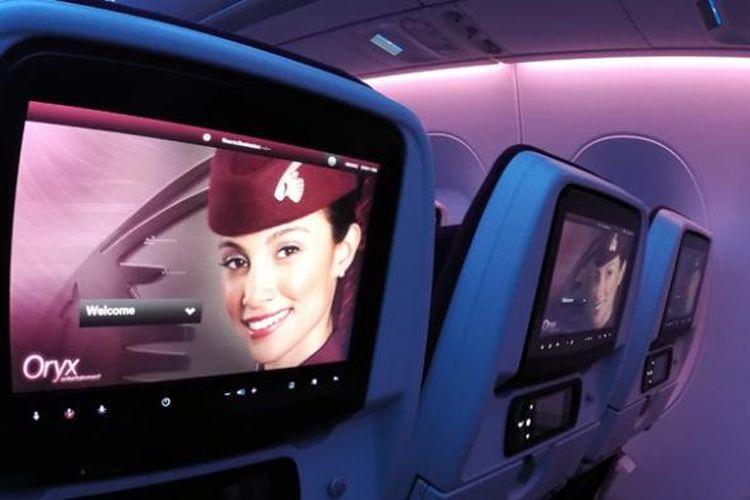 Inflight Entertainment (IFE) Qatar A350