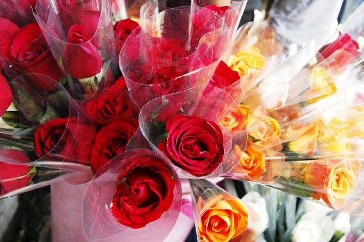 Bunga Mawar Saat Hari Valentine.