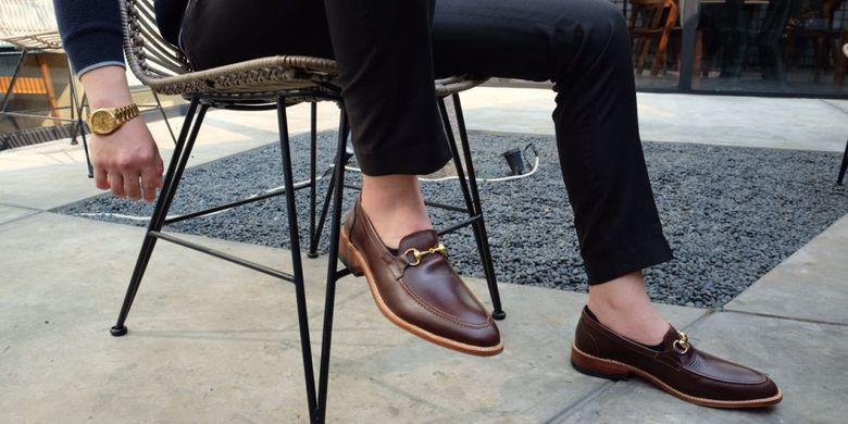 Brand sepatu kulit Cadmus buatan Jaeysen Canily, salah satu mahasiswa jurusan Kewirausahaan Podomoro University