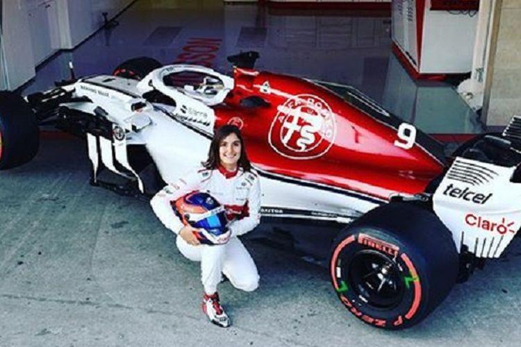 Tatiana menjadi Test Driver tim F1 Sauber