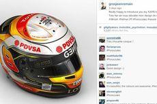 Helm Khusus Grosjean untuk Bianchi