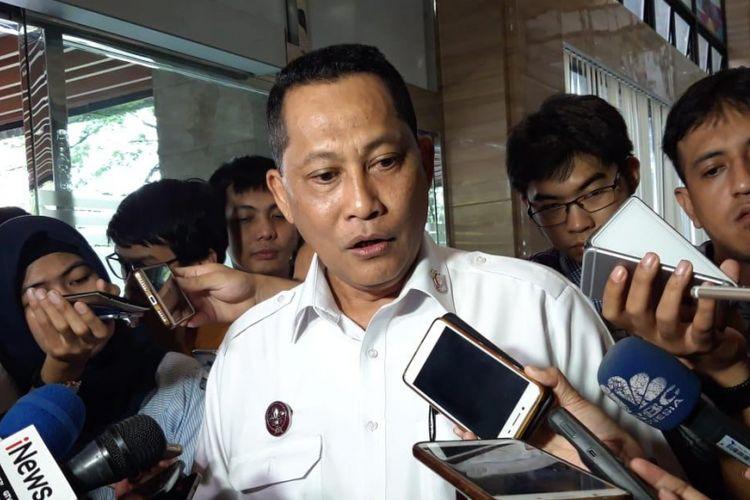 Direktur Utama Perusahaan Umum Badan Usaha Logistik (Perum Bulog) Budi Waseso di Kementerian Koordinator Bidang Perekonomian (Kemenko Perekonomian) Jakarta, Selasa (22/1/2019).