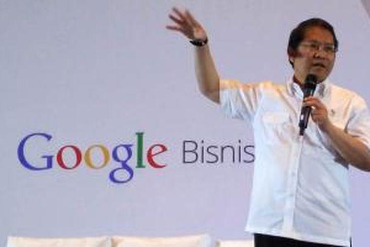 Menkominfo Rudiantara berbicara dalam acara Google Bisnis di Hotel Aryaduta, Jakarta, Kamis (20/8/2015).