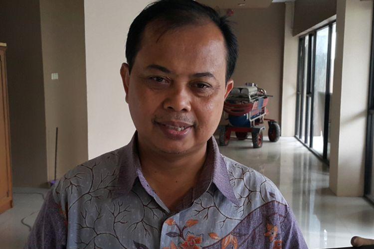 Ketua KPU DKI Jakarta Sumarno di Kantor KPU DKI, Jalan Salemba Raya, Jakarta Pusat, Kamis (17/3/2017).