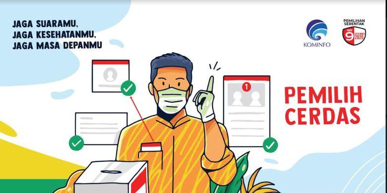Kominfo mengajak masyarakat menggunakan gawai untuk mencari rekam jejak calon kepala daerah jelang Pilkada Serentak 2020.