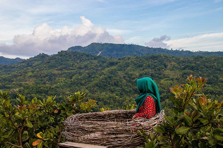 Salah Satu Spot Foto di Green Village Gedangsari.