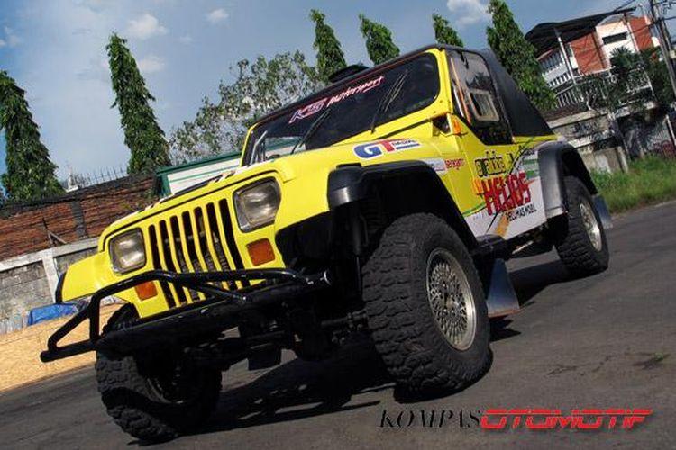 Salahs satu kontestan Kejurnas Speed Off-road 2014, Jeep Wrangler YJ KSNusa.
