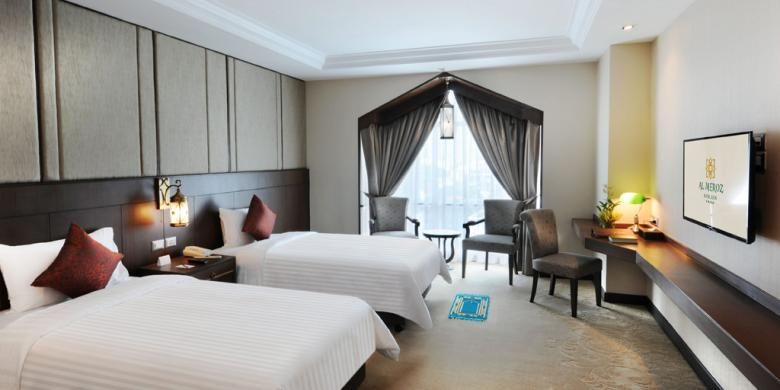Tipikal kamar Al Meroz Hotel.