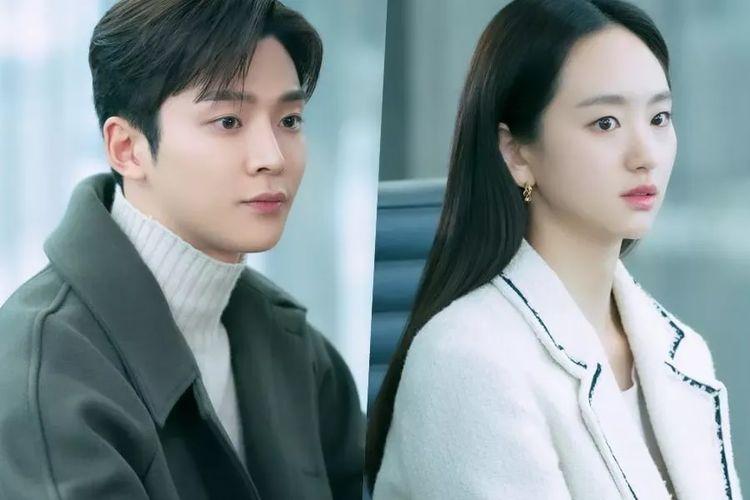 Penyanyi Rowoon SF9 (kiri) dan artis peran Won Jin Ah dalam drama She Would Never Know