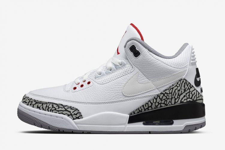 Air Jordan 3 JTH  kembali menggunakan logo Nike Swoosh, sebuah desain yang tak ada pada edisi original Air Jordan 3.