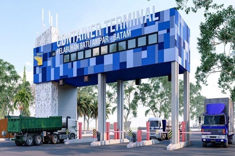 Saat ini, progres pembangunan fisik untuk Gerbang Masuk Pelabuhan Batu Ampar telah terealisasi 80 persen.