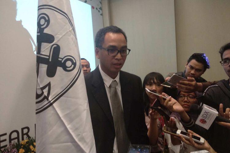 Direktur Pemasaran PT Delta Djakarta Ronny Titiheruw di Pullman Thamrin, Rabu (25/4/2018).
