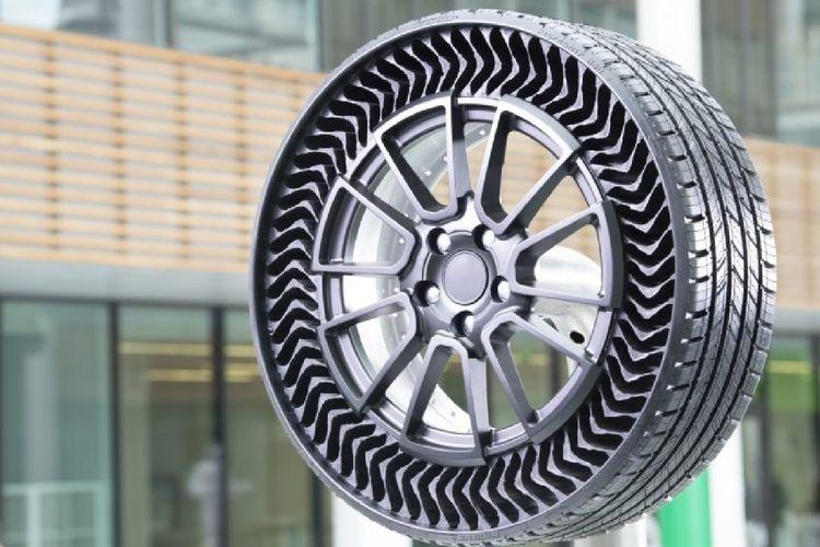GM umumkan penggunakan ban tanpa tekanan angin dari Michelin, Uptis