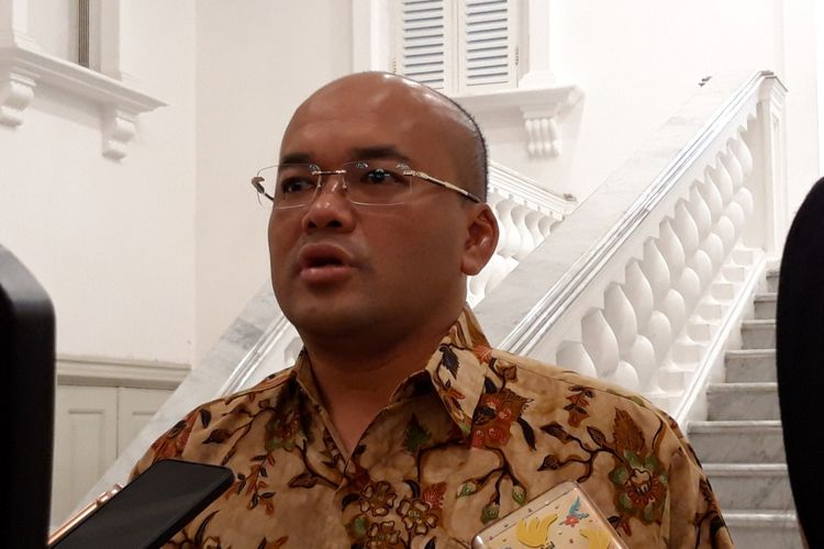 Kepala Dinas Sumber Daya Air DKI Jakarta Teguh Hendarwan, di Balai Kota, Jalan Medan Merdeka Selatan, Jakarta Pusat, Kamis (15/11/2018)