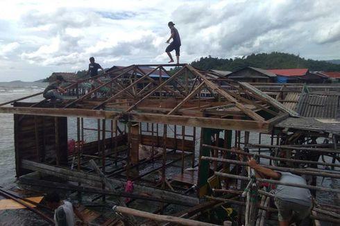 Tapanuli Tengah Dihantam Angin Puting Beliung, 1 Rumah Hanyut ke Laut, 14 Rusak Parah