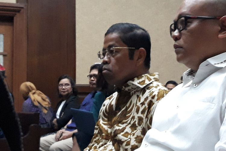 Idrus Marham bersaksi di Pengadilan Tipikor Jakarta, Kamis (1/11/2018).
