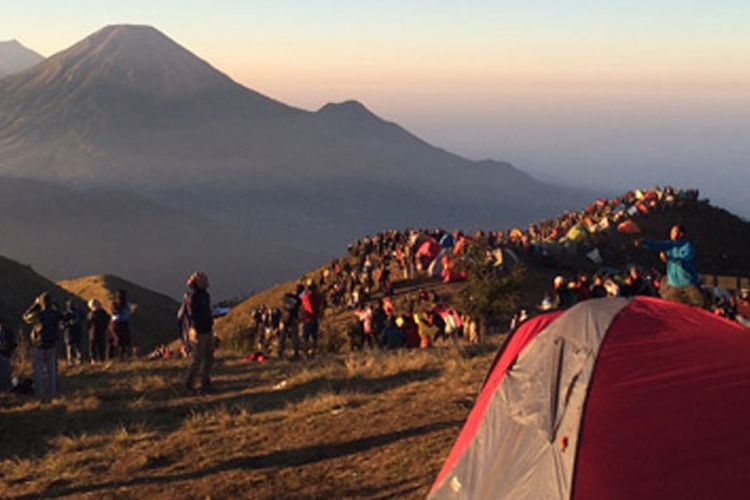 Gunung Prau di Dieng.