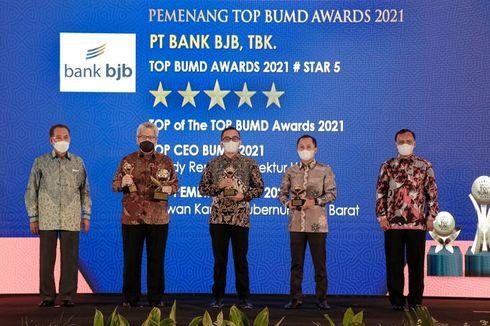 Kinerja Apik di Tengah Pandemi, Bank BJB Sabet 4 Penghargaan TOP BUMD Awards 2021