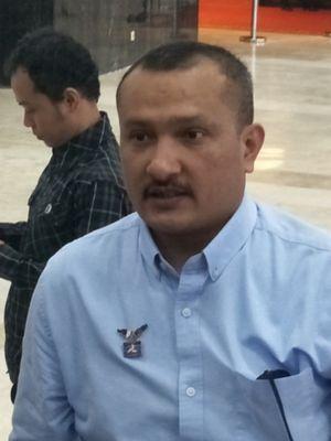 Ketua DPP Partai Demokrat Ferdinand Hutahaean saat ditemui di Kompleks Parlemen, Senayan, Jakarta, Rabu (18/7/2018).
