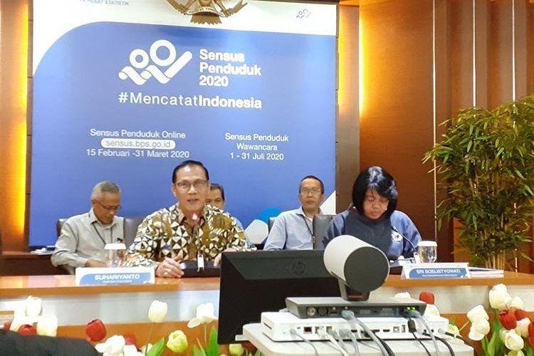 Kepala BPS Suhariyanto di Gedung BPS, Jakarta, Rabu (5/2/2020).