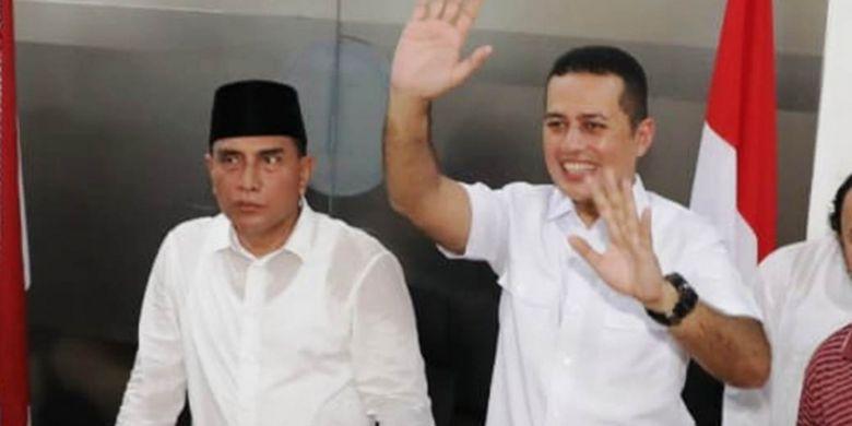 Gubernur dan wakil gubernur Sumut yang baru, Edy Rahmayadi dan Musha Rajeksah alias Ijek.