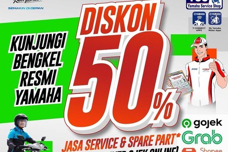 Diskon 50 persen jasa service dan suku cadang untuk driver ojol