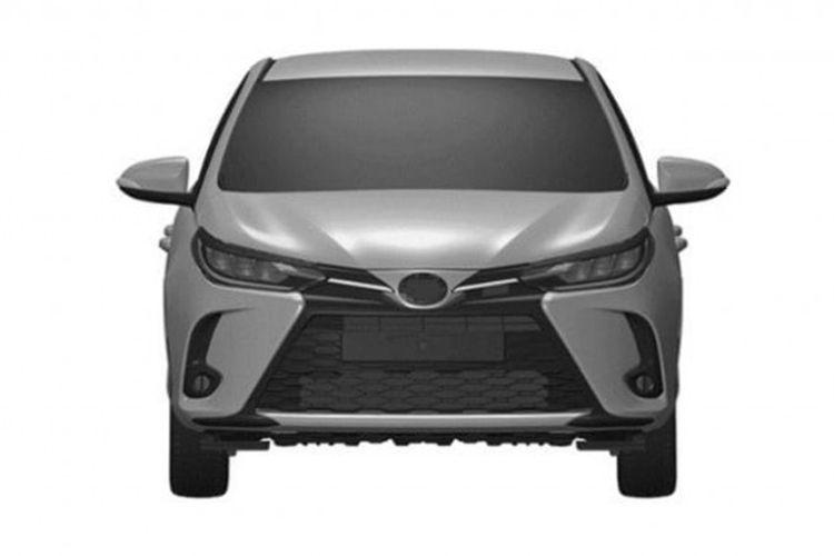 Gambar paten yang diduga Toyota Yaris facelift