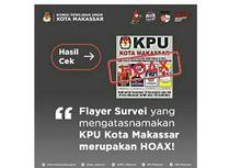 [HOAKS] Survei Elektabilitas Pilkada Catut KPU Makassar