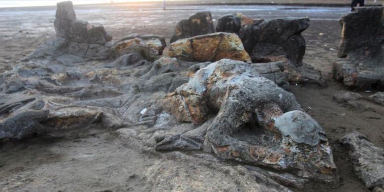 Batu Malin Kundang di Pantai Air Manis, Padang, Sumatera Barat