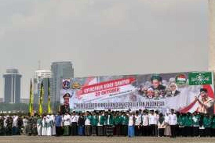 Peringatan Hari Santri Nasional di Lapangan Monumen Nasional, Sabtu (22/10/2016)