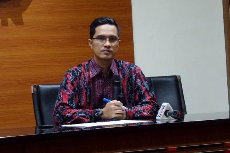 Juru Bicara KPK Febri Diansyah di Gedung KPK Jakarta, Kamis (16/2/2017).