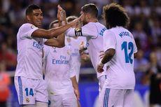 Hasil Liga Spanyol, Real Madrid Menang Telak tetapi Ramos Kartu Merah