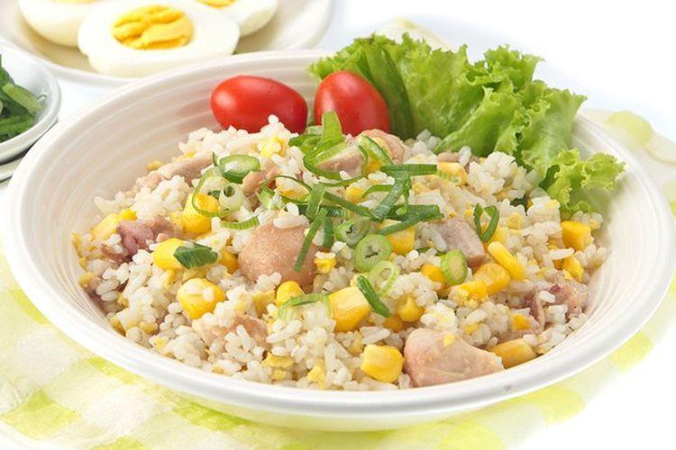 Ilustrasi nasi goreng jagung.