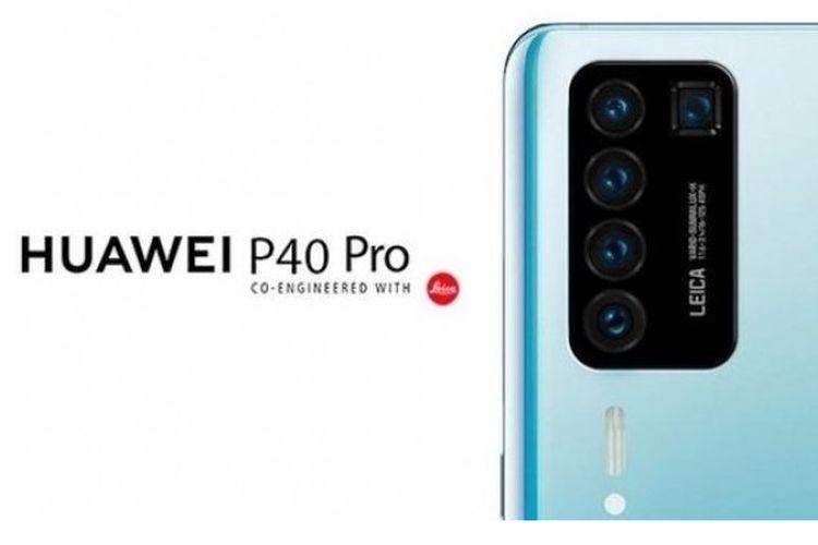 Bocoran gambar poster Huawei P40 Pro.